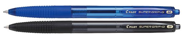 В подарок две шариковых ручки PILOT Super Grip G черная и синяя 1,0 мм