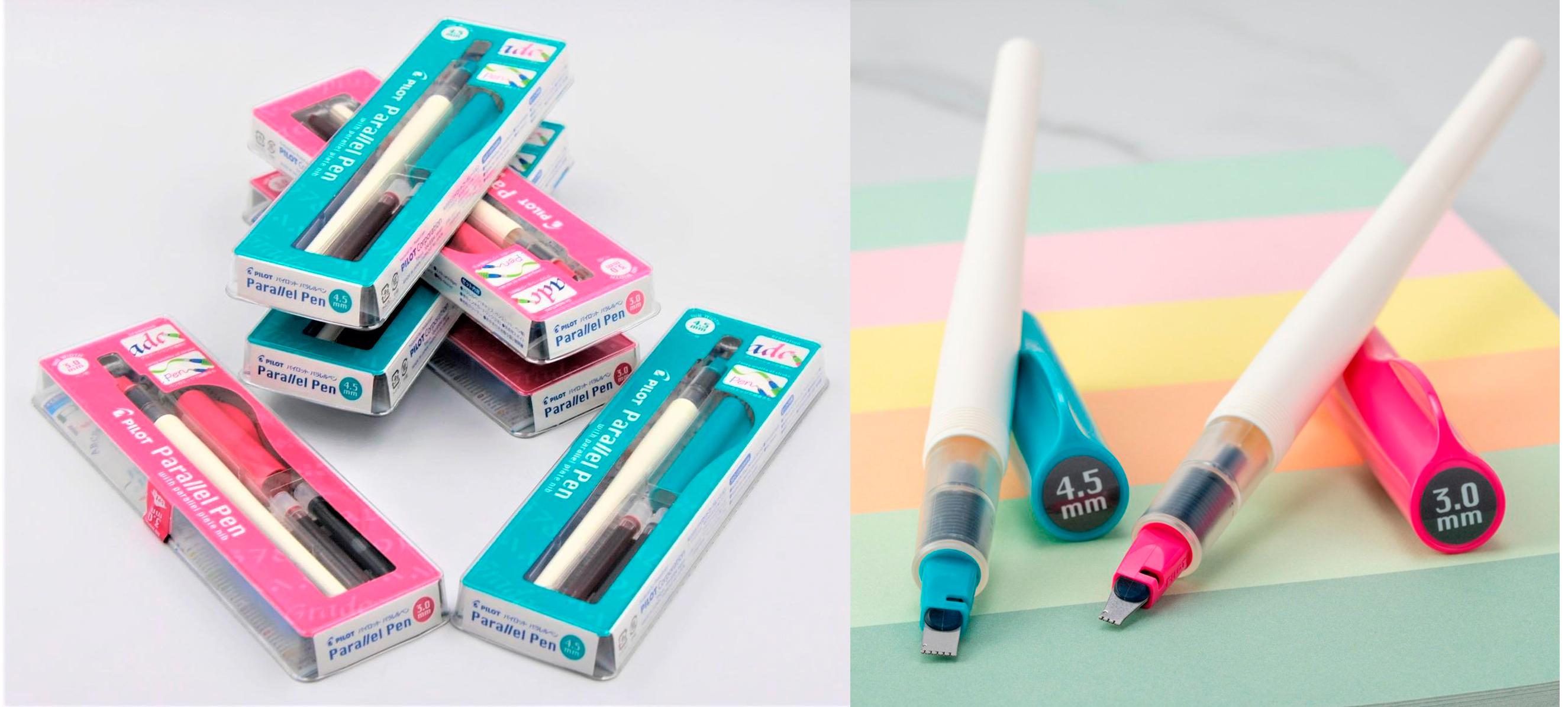 Новые каллиграфические перья Pilot Parallel Pen 3.0 и 4.5 мм
